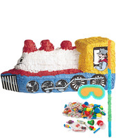 Train Shaped Pinata Kit