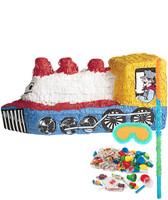 Train Shaped Pinata Kit