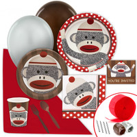 Sock Monkey Red Value Party Pack