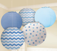 Blue Chevron & Dot Decorating Kit