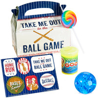 Baseball Time Party Filled Favor Box (Pack of 4)