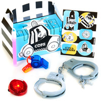 Cops and Robbers Party - Filled Party Favor Box (Pack of 4)