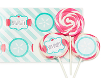 Little Spa Party Deluxe Lollipop Favor Kit
