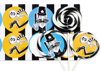 Cops and Robbers Deluxe Lollipop Favor Kit