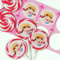 Pink Cowgirl Deluxe Lollipop Favor Kit