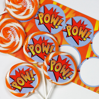 Superhero Deluxe Lollipop Favor Kit