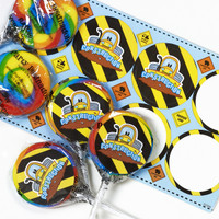 Construction Pals Lollipop Favor Kit