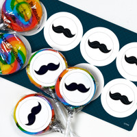 Little Man Mustache Lollipop Favor Kit