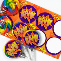 Super Hero Lollipop Favor Kit