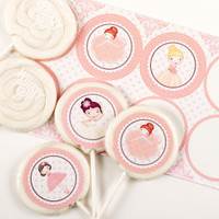 Ballerina Tutu Deluxe Lollipop Favor Kit
