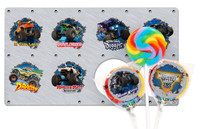 Monster Jam 3D Lollipop Favor Kit