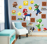 Super Mario Bros. Mario, Luigi and Yoshi Giant Wall Decals Combo Kit