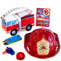Fire Trucks Filled Favor Box (Pack of 4)