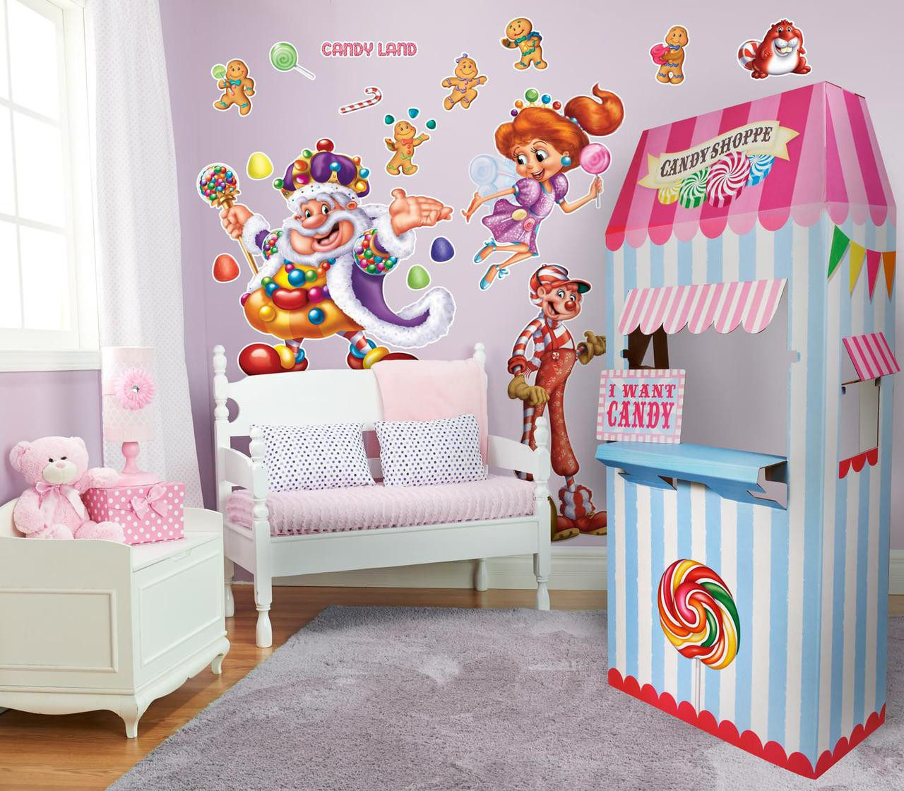 Candyland giant wall decal and standup kit thepartyworks for Candyland wall mural