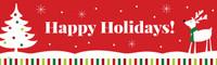 Reindeer Christmas Party Pre-Printed Banner