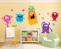 Monsters Giant Wall Decal