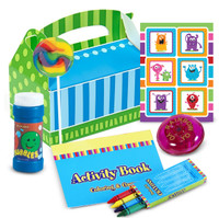 Monsters Filled Favor Box (Pack of 4)