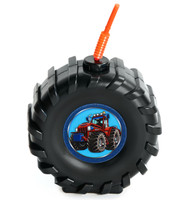 Molded Tire Cup with Farm Tractor Stickers