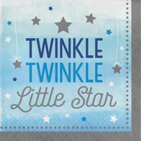 Twinkle Twinkle Little Star Blue Lunch Napkins (16)