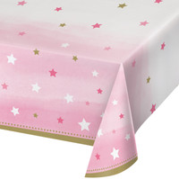 Twinkle Twinkle Little Star Pink Tablecover