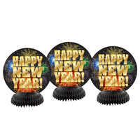 Happy New Year 2017 Honeycomb Decor