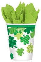 St. Patrick's Day Blooming Shamrocks 9 oz. Paper Cups