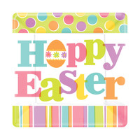 "Easter Expressions 7"" Square Dessert Plates"