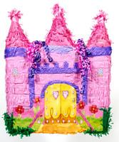 Pink Castle Pinata