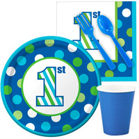 1st Birthday Boy Sweet Stripes Snack Party Pack