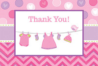 Baby Shower Girl - Shower With Love Thank You Notes (8)