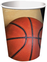 Basketball Fan 9 oz. Paper Cups (8)