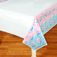 Gender Reveal Plastic Tablecover