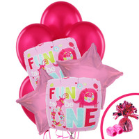 Fun at One Girl Balloon Bouquet