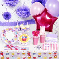 Sweet Cupcake Super Deluxe Party Pack