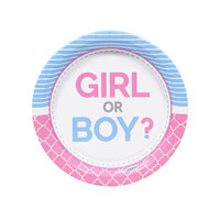 Gender Reveal Party Dessert Plates (8)