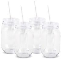 Plastic Mason Jars 16oz. (4)