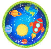 "Rocket to Space 9""Dinner Plates (8)"