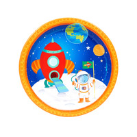 "Rocket to Space 7"" Dessert Plates (8)"