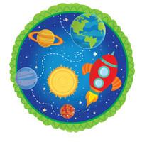 Rocket to Space  Theme Foil Balloon