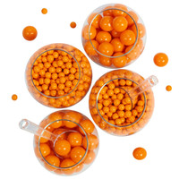 Orange Sixlet & Gumball Candy Pack