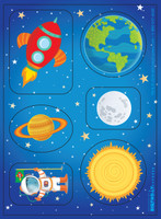 Rocket to Space Sticker Sheet (stock)