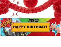 Superhero Comics Decoration Kit