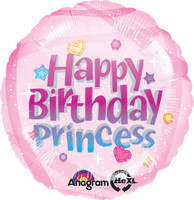 Happy Birthday Princess Foil Balloon