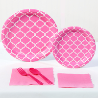 Candy Pink Quatrefoil Party Pack