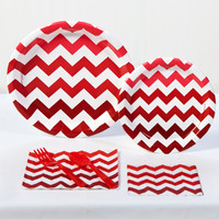 Red Chevron Party Pack