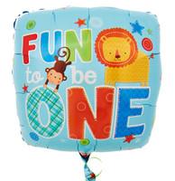 Fun to be One Boy Foil Balloon