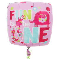 Fun to be One Girl Foil Balloon