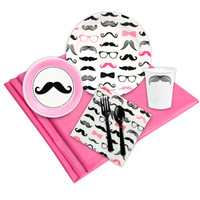 Pink Mustache Party Pack