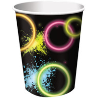 Glow Party 9 oz. Paper Cups (8)