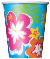 Luau 9oz. Paper Cups (8)